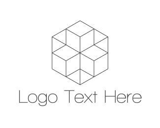 Twitter - Geometric Hexagon logo design