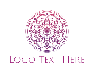 Culture - Pink Mandala  logo design