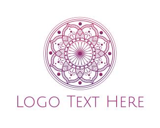 Healing - Pink Mandala  logo design