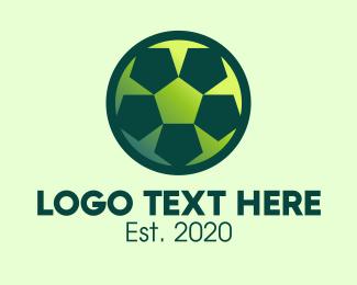 Goal - Green Soccer Ball logo design