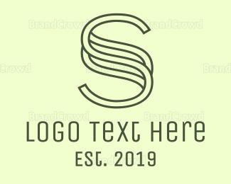 Salon - Outline S Pattern logo design