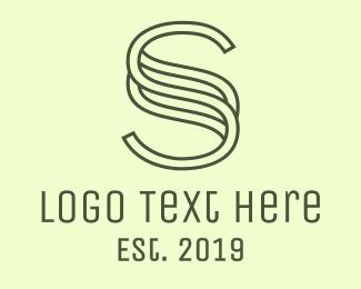 Pattern - Outline S Pattern logo design