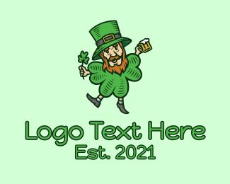 Lucky - Lucky Leprechaun logo design