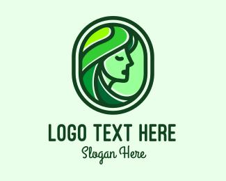 Makeup Blogger - Eco Beauty Girl logo design