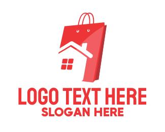 Shop - Home Shopping Bag logo design