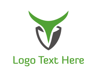 Fierce - Green Antlers logo design