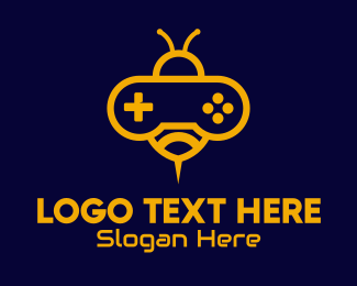 Ps5 - Yellow Bee Video Game logo design