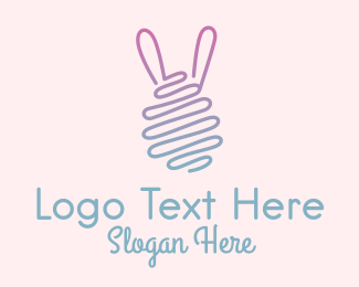 Party Game - Monoline Easter Bunny Egg  logo design