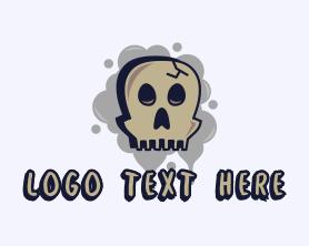 Punk - Skull Graffiti Art logo design