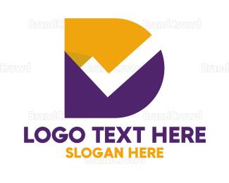 Checklist - Minimalist Check Letter D logo design