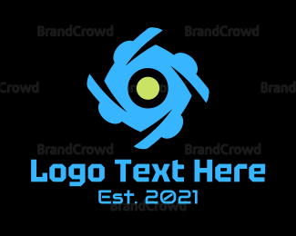 Rotation - Spiral Eye logo design