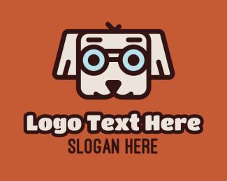 Glasses - Cute Dog Glasses logo design