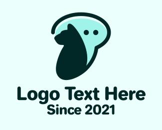 Social Media - Dog Chat Bubble logo design