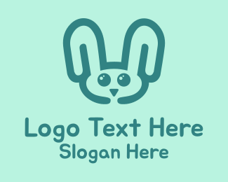 Animal Shelter - Rabbit Head logo design