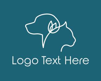 Vet - Pet & Flower logo design