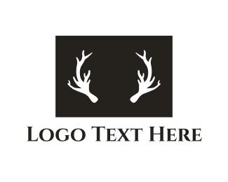 Whiskey - Deer Antlers logo design