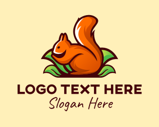 Critter - Orange Squirrel logo design