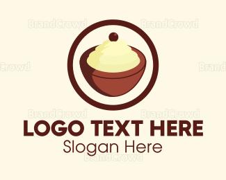 Frozen - Coconut Gelato logo design