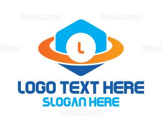 Outer Space - Space Hexagon Lettermark logo design