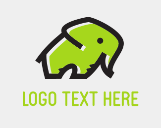 Great - Green Elephant logo design