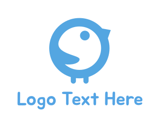 Blue Baby - Baby Bird logo design