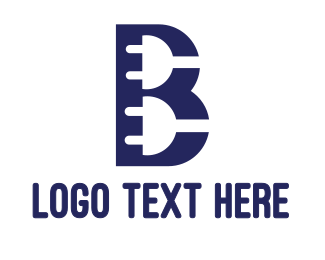 Recharge - Electric Plug B logo design