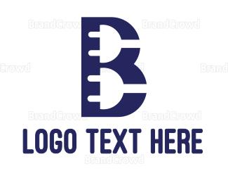 Socket - Twin Plug B logo design