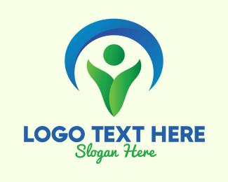 Life - Green Environmentalist Conservation logo design