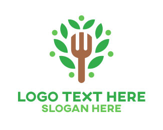 Vegan Food - Organic Food logo design
