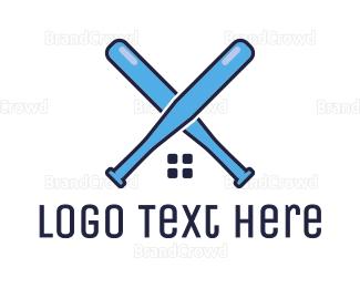 Bat - Blue Bat House logo design