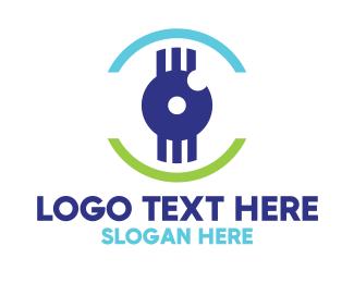 Eye - Modern Tech Eye logo design