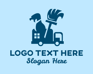 Cleaning Service - Cleaning Service Van  logo design