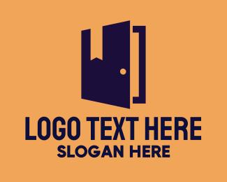 Realty - Book Door Realty logo design