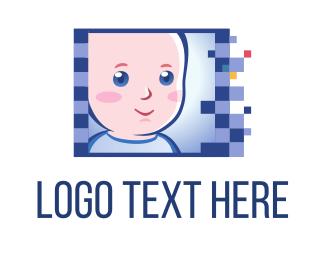 Newborn - Baby Photo logo design