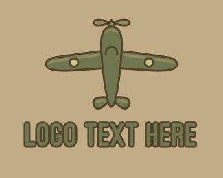 Squadron - Army Green Aircraft logo design