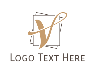 Fine Dining - Letter V Luxury logo design