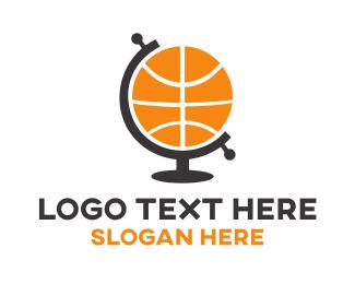 Nba - Basketball Globe  logo design