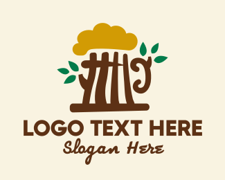 Beer Bottle - Beer Tree Bar  logo design