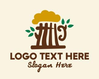 Bar - Beer Tree Bar logo design