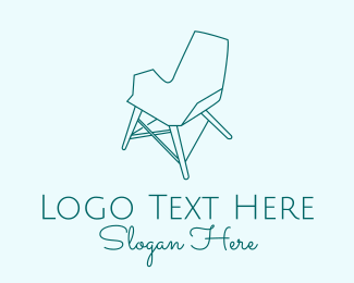 Chair - Blue Scandinavian Chair  logo design