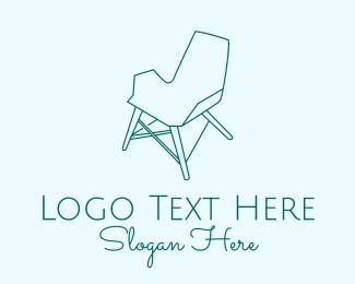 Interior - Blue Furniture Chair logo design