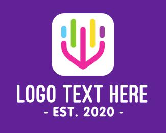Mobile App - Music Download Mobile App logo design