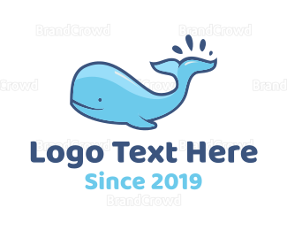 Wildlife - Blue Whale logo design