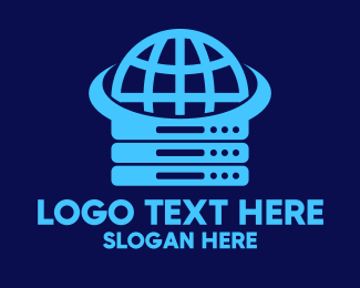Webhosting - Blue Global Server logo design