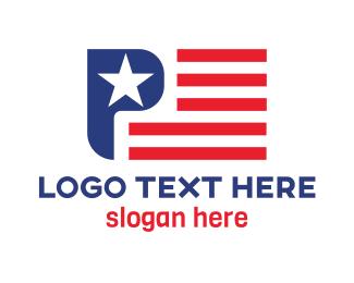 Citizen - USA Flag P logo design