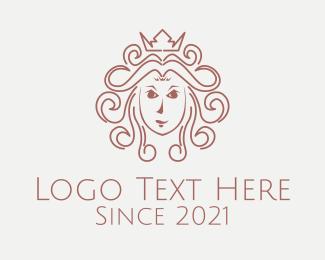Queen - Beauty Queen Woman logo design