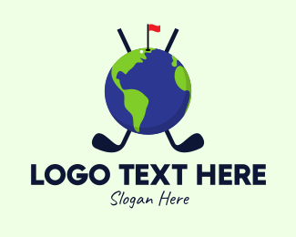 Golf Ball - World Golf Tournament logo design