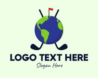 World - World Golf Tournament logo design