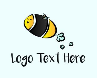 Bumblebee - Flying Bee logo design