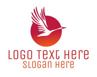 Dawn - Sunrise Bird logo design